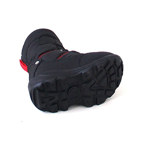 Kamik Snowman NK9011, Boots mixte enfant Noir - Schwarz(BLK)
