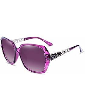 LXKMTYJ Elegantes Gafas De Bastidor Grande Sra. Marea Coreano Gafas De Sol, Púrpura