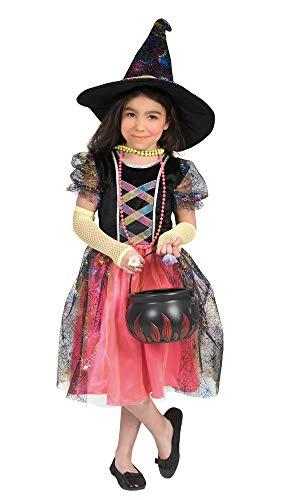 Hexe Summer Kostüm für Mädchen - Schwarz Mehrfarbig Gr. 98