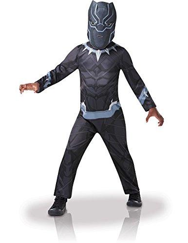 Rubie's Deluxe-Kostüm Black Panther der Marvel Avengers, für Kinder von 9-10 Jahren, 640910 9-10