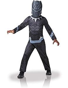 Rubies - Disfraz de Black Panther de gran calidad para niño, I-640909M, talla M