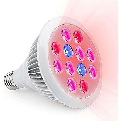 LED Luz de crecimiento, Homecube 24W bombillas de luz LED para plantas cultivo de plantas hidropónico de alta eficiencia. Luz para Jardín Interior Invernadero Plantas E27crecimiento Lámparas blanco