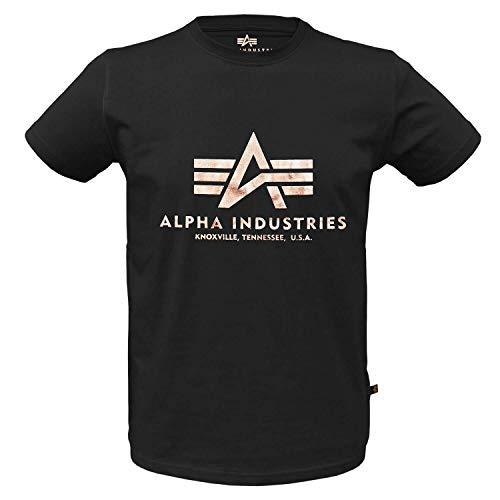 Alpha Ind. Basic T-Shirt schwarz/Gold - L