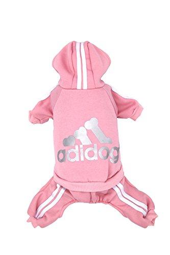 Dorapocket Adidog Haustierbekleidung Hund Und Katze Hoodie Sweater Um Warm Zu Bleiben,Rosa S (Rosa Superheld)