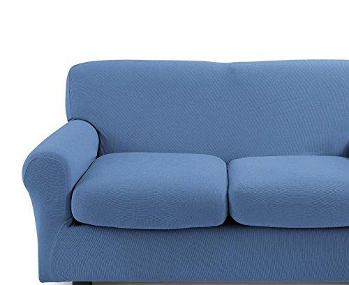 Copridivano bassetti mania per divani 3 posti fino a 210 cm di larghezza (azzurro)