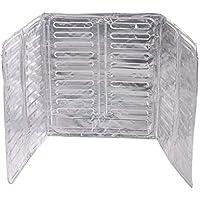 Fangfeen Papel de Aluminio Estufa Escudo Aceite Salpicadura de la Pantalla de Aislamiento Protector de la Herramienta de la Cocina 3 Lados Aceite Protector contra Salpicaduras