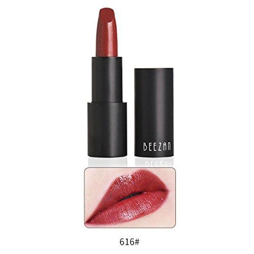 Kein Bleichen Lippenstift,Sisit Wasserdicht Lang Dauerhaft Vampir Stil Make-up Lippenstift Lippe Glanz (Mehrfarbig F)