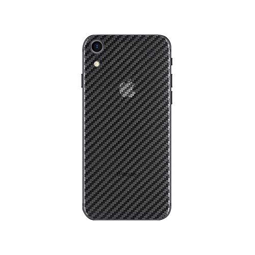 qichenlu [Carbon Muster] 4 Stücke Rückseite Folie für iPhone XR, Folie Hinter für iPhone XR,Klar Matt Klebefolie Kratzfest Hinten Schutz