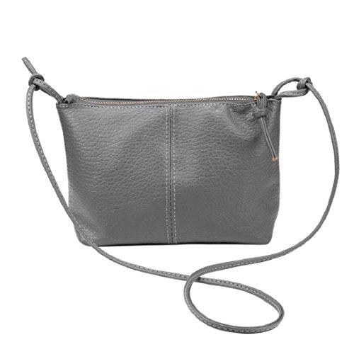 Vovotrade® Le donne faux cuoio della borsa tracolla borsa (colore marrone) Grigio