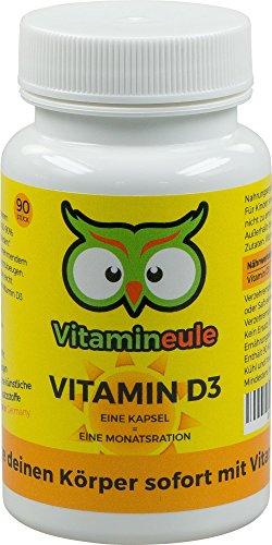 Vitamin D3 Kapseln - 30.000 i.E. - Qualität aus Deutschland - Ohne künstliche Zusatzstoffe - Vegan - Vitamineule® - 1000 i.E. Tagesdosis