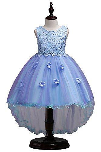 MisShow Blumenmädchen Kleid Kinder Mädchen Kleid festlich Brautjungfer Festkleid Festzug Hochzeit Partykleid-150CM