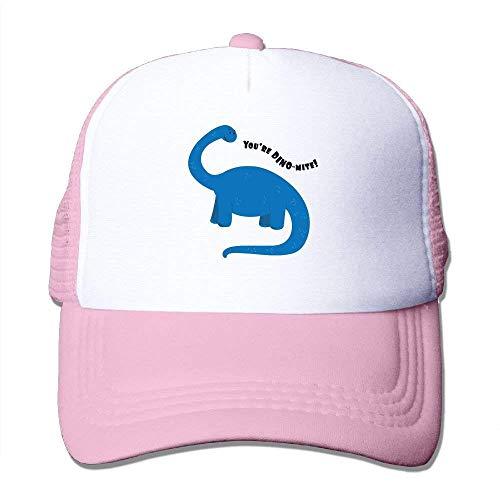 lijied DYou're Dino-Mite Mesh Hat Baseball Caps Funny Grid Hat Adjustable Trucker Cap -