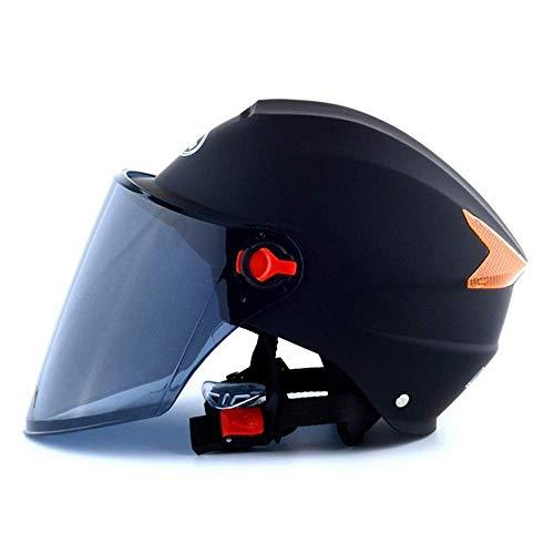 T-Mark Sicherheitsschutz Motorrad-Sturzhelm Sonnenschutz UV-Schutz Batterie-Auto Reithelm Sommer Teilabgedeckte Elektro-Fahrzeug Helm (Farbe: Rosa, Größe: 27 * 22 *   16cm) Einstellbare Größe
