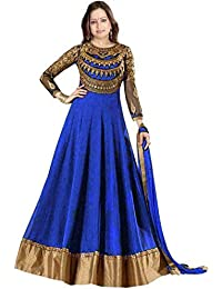 Karma Fashion New Blue Suits For Women Indo-Western For Party Wedding Wear Floor Length Gown/Anarkali Suit/Salwar...