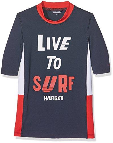 Tommy Hilfiger Jungen T-Shirt Boys Swim Tee S/S, Blau (Navy Blazer 431), 164 (Herstellergröße: 14)