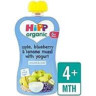 Hipp Manzana Orgánica, Arándanos Y Plátano Muesli Con 100 G De Yogur - Paquete de 6