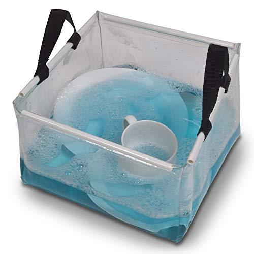 Faltbar Schüssel Waschschüssel 30cm Spülschüssel Kunststoff Camping Spüle Universal Schüssel Abwaschschüssel Transparent Korb Transportkorb Tragekorb Outdoor Spülwanne Waschschale Wasser Becken