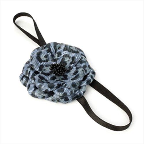 Imprimé léopard gris fleur bandeau élastique aj22429