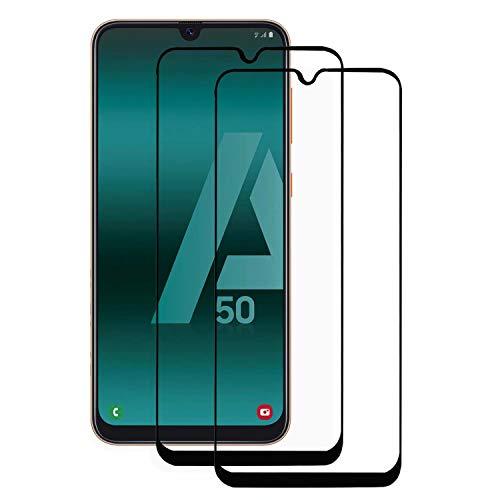 Sup Samsung Galaxy A50 SY2hei-Galaxy A50 Displayschutzfolie, Galaxy A50, Black Full Coverage Film Invisible Screen Protector Guard