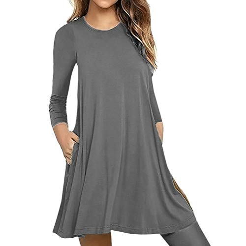 Bluelucon Damen Hoodie Damen Langarm Sweatshirt Damen Langarm Hoodies Casual Herbst Kleid