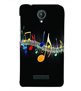PRINTSWAG MUSIC Designer Back Cover Case for MICROMAX CANVAS SPARK Q380
