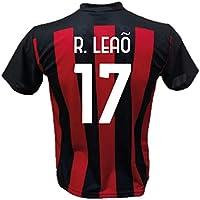 DND di D'Andolfo Ciro Maglia Calcio R. Leao 17 A.C. Milan Replica autorizzata 2020-2021 Taglie da Bambino e Adulto (XL (Adulto))