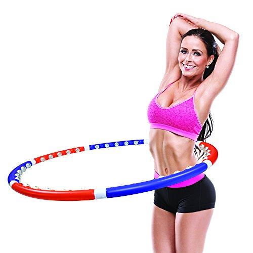 JEWADO Dragon Hoop, Massage Hula Hoop Reifen zum Abnehmen mit 35 Massagenoppen