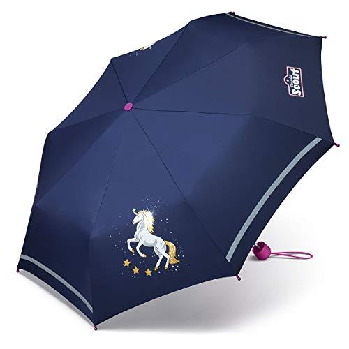 Scout Einhorn Kinder Mädchen Schultaschenschirm Regenschirm Kinderschirm Schirm 10024