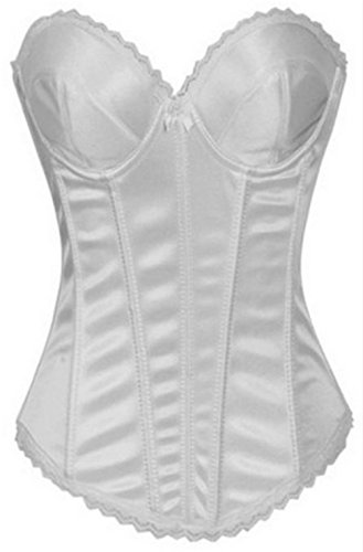 Frauen Bridal Basque Vollbrust Waist Training hochzeit Corsage Top White
