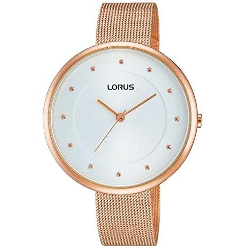 Lorus Ladies Large Dial Rose Gold Plated Watch RG288JX9