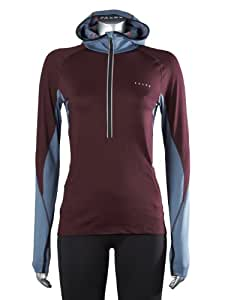 FALKE Damen Running Shirt Kapuzenshirt Brushed Leisure, burgundy, XL, 38494