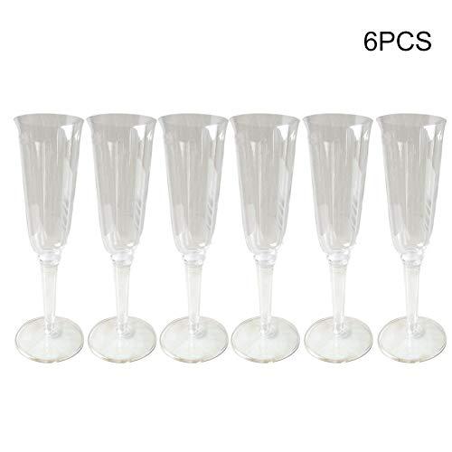 Kunststoff Unzerbrechlich Champagner trinkglas, weinglaeser, gläser fur Hochzeit Weihnachten...