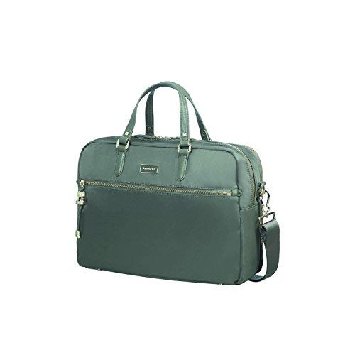 SAMSONITE Karissa Biz - 2-Compartment Laptop Briefcase 15.6 Aktentasche, 41 cm, 16 L, Gunmetal Green