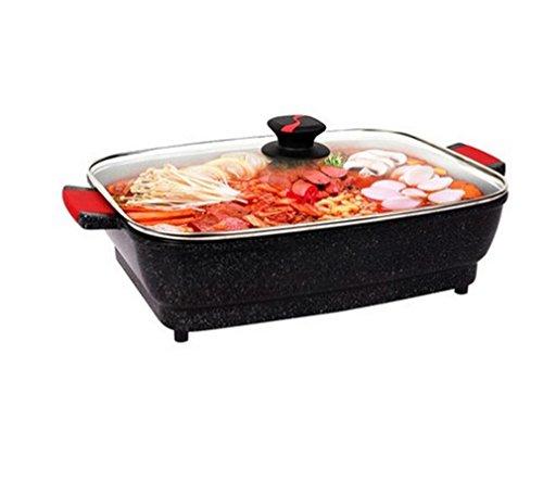 BBQER-A Multifunktions-Elektro-Grill Home No-Stick Hot Pot Fring BBQ Pan Aluminium Alloy Backofen