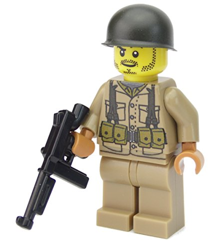 WW2 WWII Custom Soldado Americano BrickArms Thompson