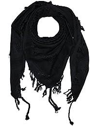 Superfreak® Pañuelo pali de dos colores clásico°chal PLO°100x100 cm°Pañuelo palestino Arafat°100% algodón – gris-oscuro/negro