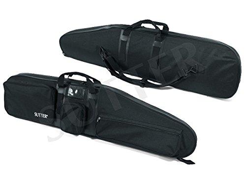 SUTTER Premium Waffentasche 125x35x12cm Schwarz - Abschließbare Gewehrtasche Gewehrkoffer