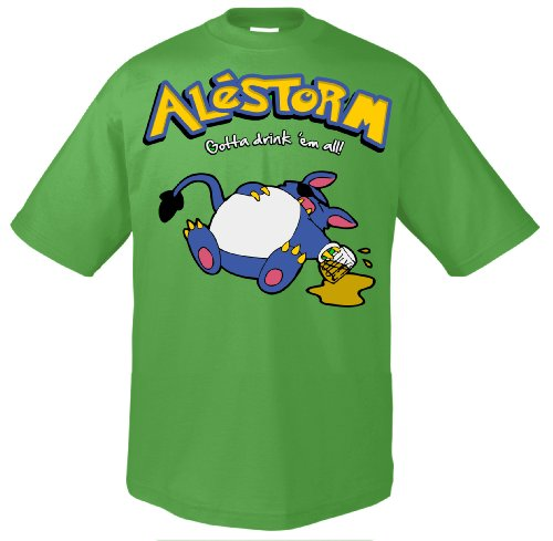 Gotta Alestorm drink indietro, all 701960 T-Shirt Kelly Verde 56/58