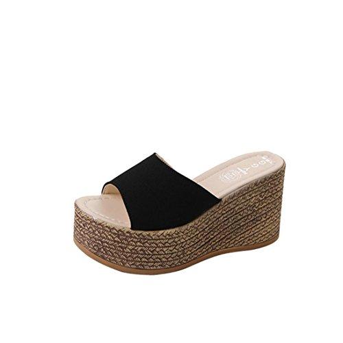 Angelof Sandales Sandales Femmes, Compensees Femme Été Chaussures SoiréE Escarpin Ouverte Pantoufle Plateforme Ado Fille Chic