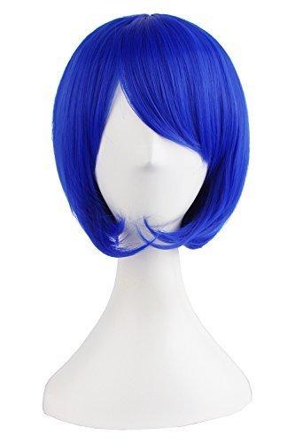 MapofBeauty 30cm/ 12 Pouce Court Droit Femmes Droit Perruques (Marine Bleu)