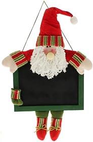 WeRChristmas - Decorazione Natalizia a Forma di Babbo Natale Appeso, con lavagnetta per messaggi e memo, Altez