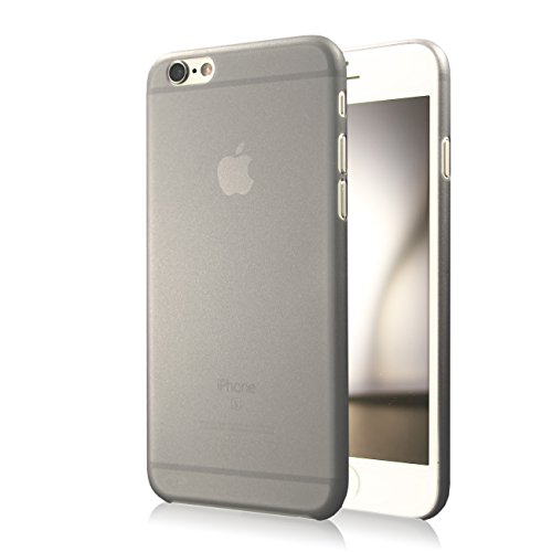 QP Quality Protection Ultraslim Case Hülle für Apple iPhone 6 / 6S (4,7 Zoll) Schutzhülle Cover matt schwarz leicht transparent grau