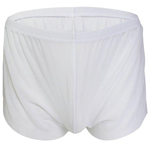 """YiZYiF Boxer translucide Sous-vêtements Homme Sexy Bref M/L/XL (M(Cienture:27.0-41.0""""), Blanc) YiZYiF"""