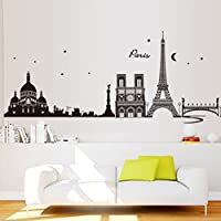 vyage (TM) romantico fai da te Torre Eiffel di Parigi City Wall Sticke Art Decor murale adesivo de parede casa decorazione carta da parati per