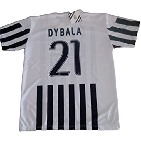 PERSEO TRADE S.R.L. - Réplica oficial de la camiseta de fútbol de la Juventus, del jugador número 21 Dybala, disponible en todas las tallas (2015-2016) Talla:12