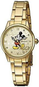Disney Oro de Ingersoll Reloj de mujer de cuarzo con Esfera Analógica Pantalla y Pulsera de oro din005gdgd de Disney Ingersoll