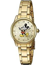 Disney Oro de Ingersoll Reloj de mujer de cuarzo con Esfera Analógica Pantalla y Pulsera de oro din005gdgd