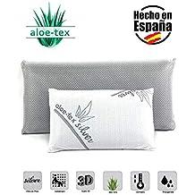 Almohada Viscoelastica de Carbono Activo Viaje – viajera 3D Aloe-Tex