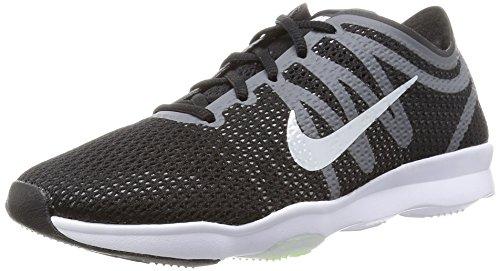 Nike Damen Wmns Air Zoom Fit 2 Gymnastikschuhe, Blau, 16 EU Black (Schwarz / Weiß-Dunkelgrau-Wlf Grau)