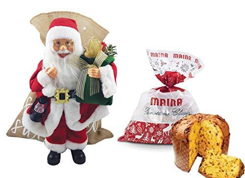 Confezione natalizia babbo natale + panettone maina kit fai da te idea regalo